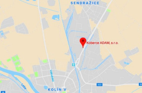 Mapa google Kolín
